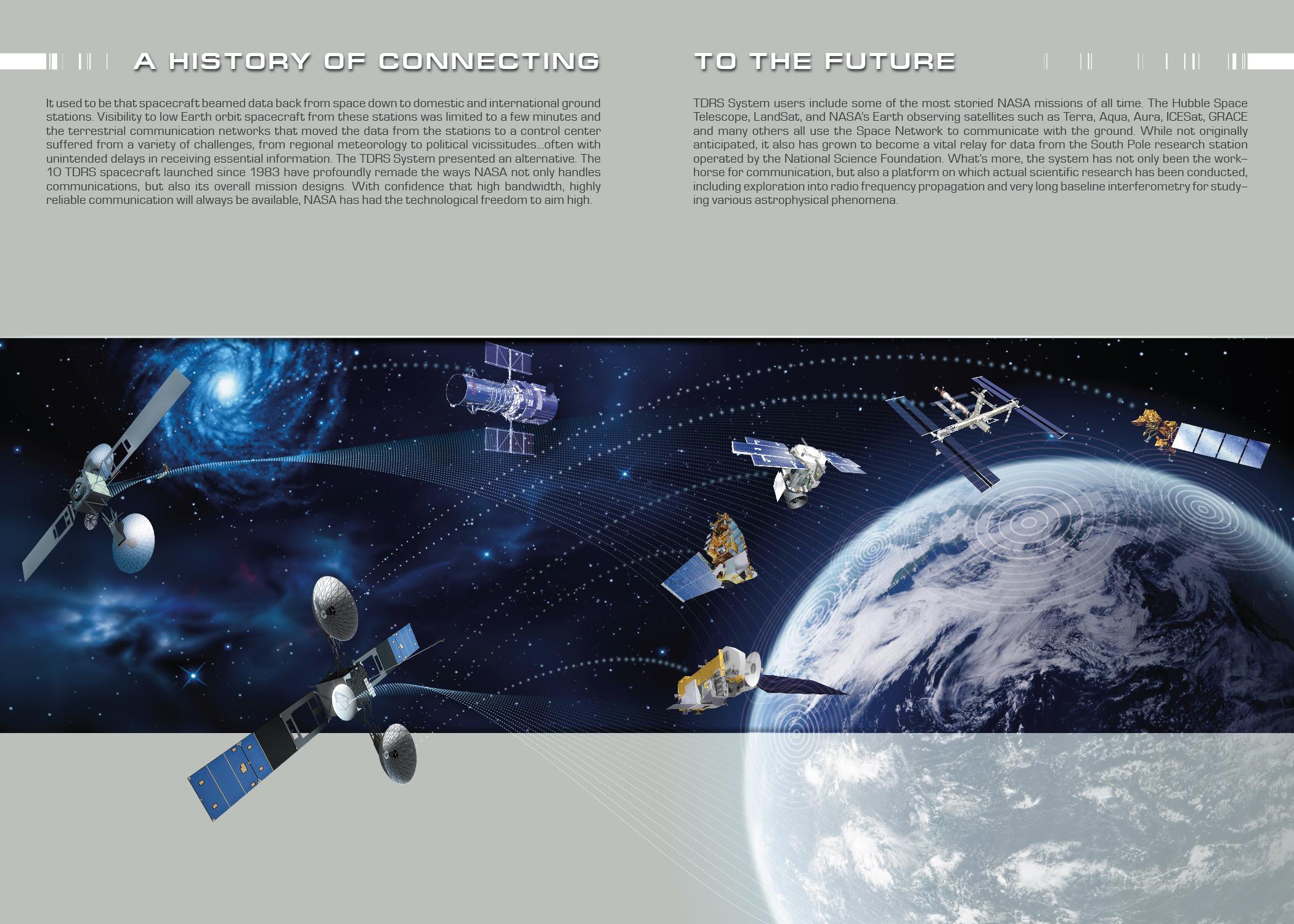Brochure Design for NASA's Tracking and Data Relay Satellite Program