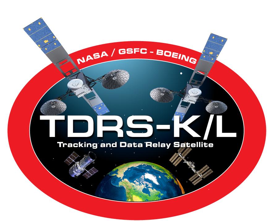 TDRS K-L Logo Design for NASA's Tracking and Data Relay Satellite Program