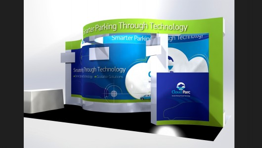 3-D Curved Exhibit Design by Amika Studio, providing graphics and print design at competitive prices in DC
